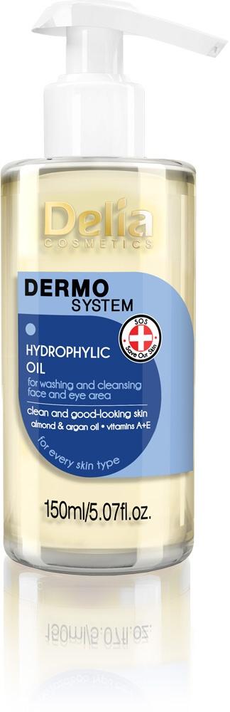 Delia DERMO SYSTEM Čistící Olej Hydratační na očí a tvář 150ml
