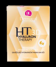 Dermacol Hyaluron Therapy 3D osvěžující hydratační maska na oči 6 x 6 g