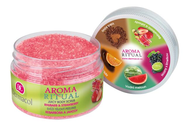 Dermacol Aroma Ritual Tělový peeling jahoda 200g