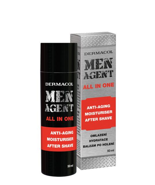 DERMACOL MEN AGENT Anti-aging gel-cream and aftershave balm 50ml