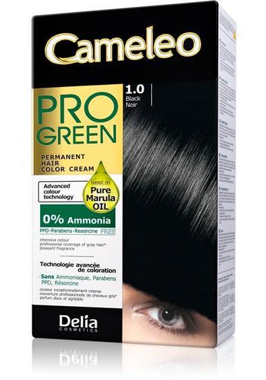 DELIA Cameleo Pro GREEN Barva na vlasy 1.0 černá 50 ml