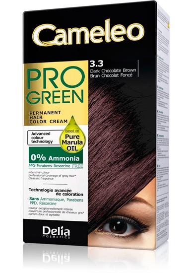 DELIA Cameleo Pro-green Barva na vlasy 3.3 tmavá čokoládová 50 ml