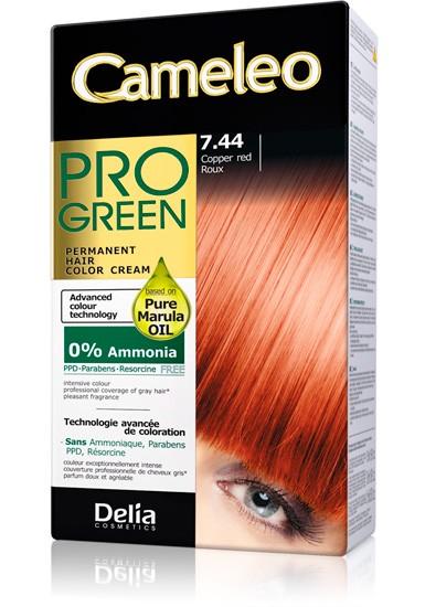 DELIA Cameleo Pro-green Barva na vlasy 7.44 měděná 50 ml