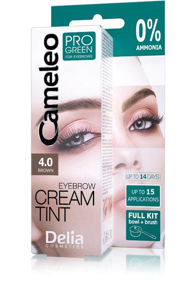 DELIA Cameleo Barva na obočí PROGREEN Henna 4.0 hnědá 15ml