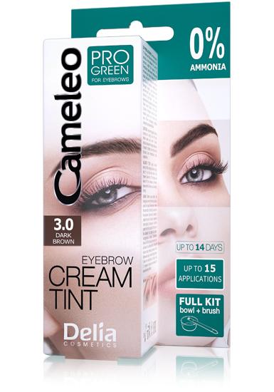 DELIA Cameleo barva na obočí PROGREEN Henna 3.0 tmavě hnědá 15ml