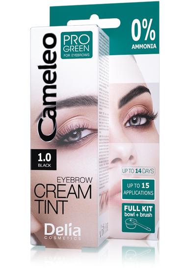 DELIA Cameleo Barva na obočí PROGREEN Henna 1.0 černá 15 ml