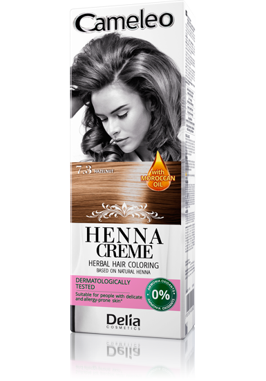 DELIA Cameleo Henna barva na vlasy 7.3 lískový ořech 75g