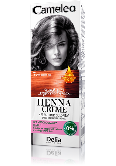 DELIA Cameleo Henna barva vlasy 7.4 rudá 75g