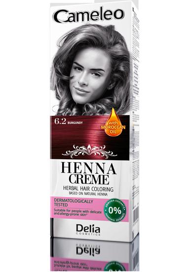 DELIA Cameleo Henna barva na vlasy 6.2 burgundová 75g