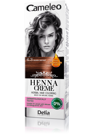 DELIA Cameleo Henna barva na vlasy 6.3 kaštanově zlatá 75g
