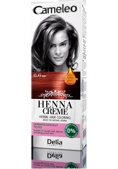 DELIA Cameleo Henna barva na vlasy 6.6 rubínová 75g