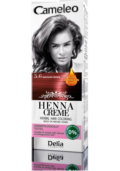 DELIA Cameleo Henna barva na vlasy 5.6 mahagonová 75g