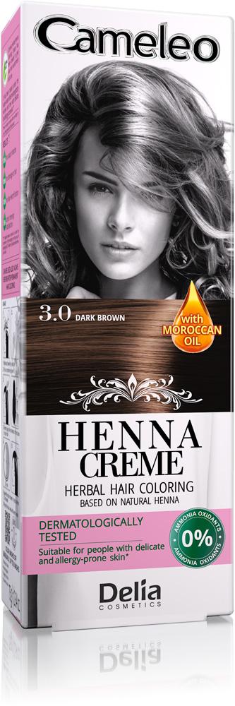 DELIA Cameleo Henna barva vlasy 3.0 tmavě hnědá 75g