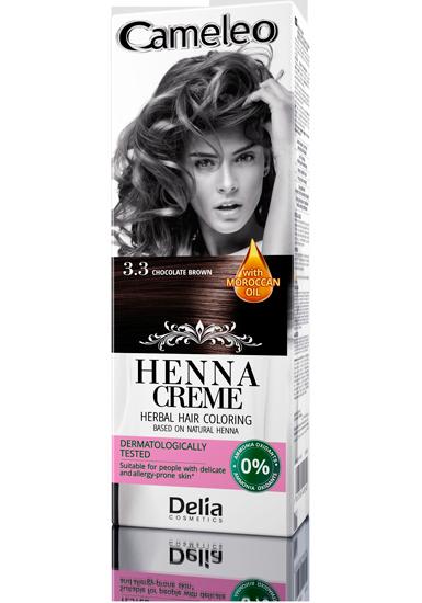 DELIA Cameleo Henna barva na vlasy 3.3 čokoládová 75g