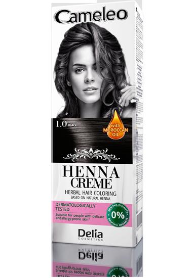 DELIA Cameleo Henna barva vlasy 1.0 černá 75g