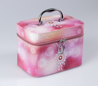 TOP CHOICE Kosmetický kufřík JEWELLERY S 19x10,5x11,5 - růžová
