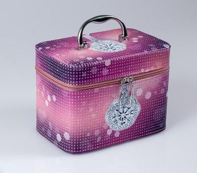TOP CHOICE Kosmetický kufřík JEWELLERY S 19x10,5x11,5 - fialová