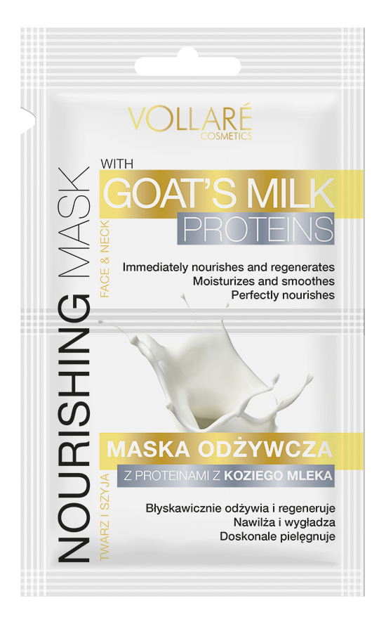 VOLLARE Výživna maska na tvář a krk s proteiny z kozího mléka 2x5ml