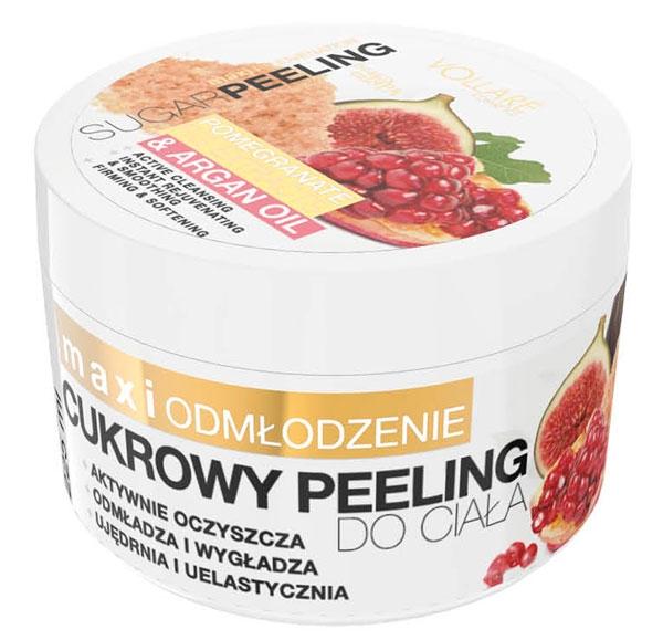 VOLLARE Tělový cukrový peeling granatové jablko, arganový olej 225ml
