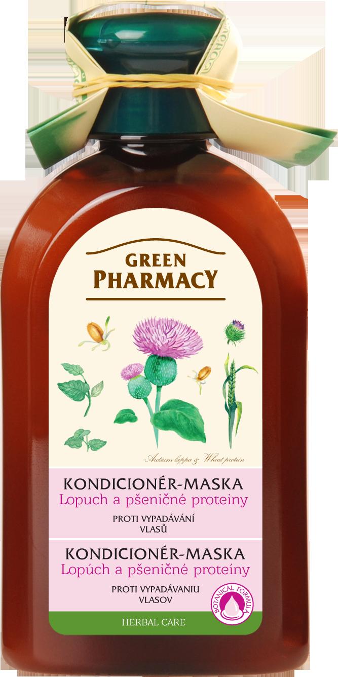 Green Pharmacy kondicionér - maska proti vypadávání vlasů - Lopuch a pšeničné  proteiny 300ml 2d1bae324ad