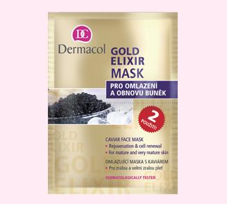 Dermacol Dermacol Gold Elixir Caviar Face Mask Omlazující maska s kaviárem 2 x 8 g
