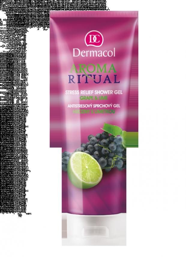 Dermacol Antistresový sprchový gel Hrozno + limetka 250 ml
