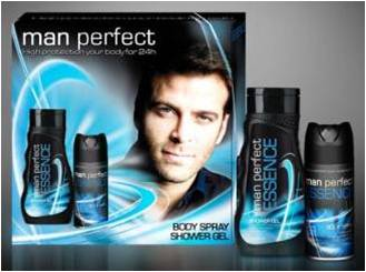 Kazeta Mens Perfect ESSENCE DEO 150ml +Sprchový gel 300ml