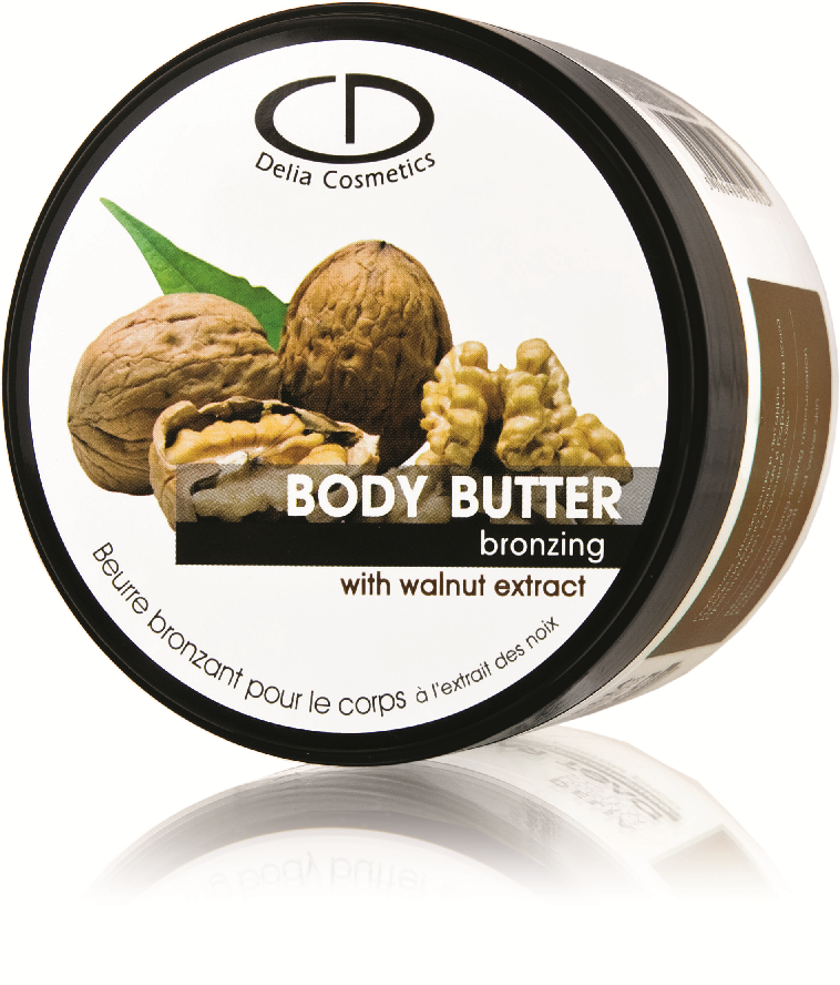 Delia Jemně samoopalující tělové máslo s vlašským ořechem 160ml