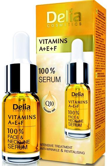 Delia DELIA 100% pleťové sérum s vitamíny A,E,F pro zralou pleť 10 ml
