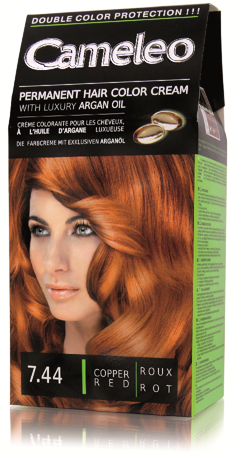 CAMELEO barva na vlasy 7.44 měděná červená