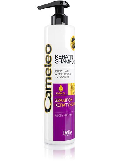 Keratinový šampón na vlnité a kudrnaté vlasy 250 ml Cameleo