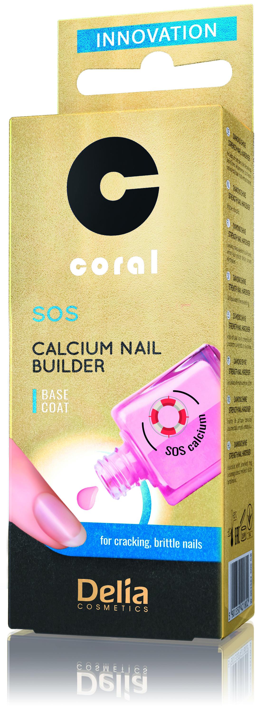Delia Coral Podkladový lak na nehty s calciem SOS base coat 11 ml