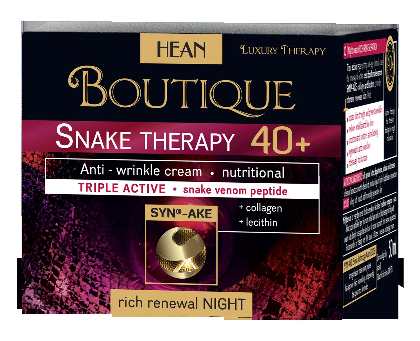 HEAN Noční krém 40+ snake therapy Boutique 50 ml