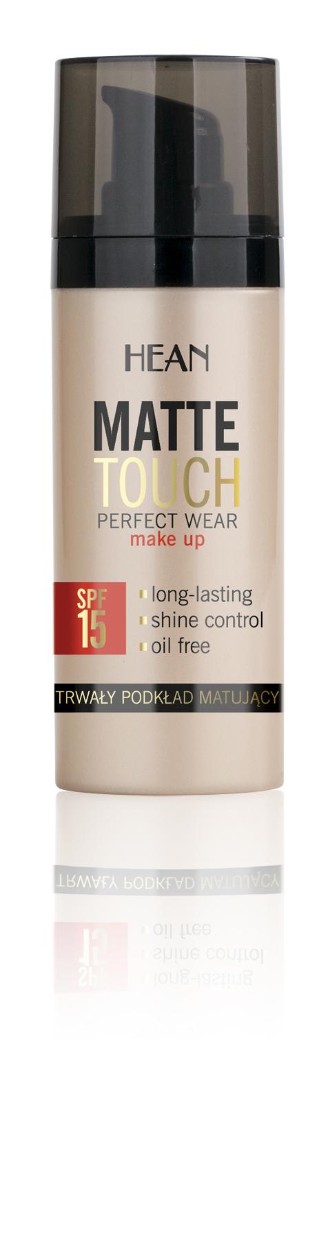 HEAN Make-up MAT TOUCH pro normální, smíšenou, mastnou pleť č.4 opálená 30ml
