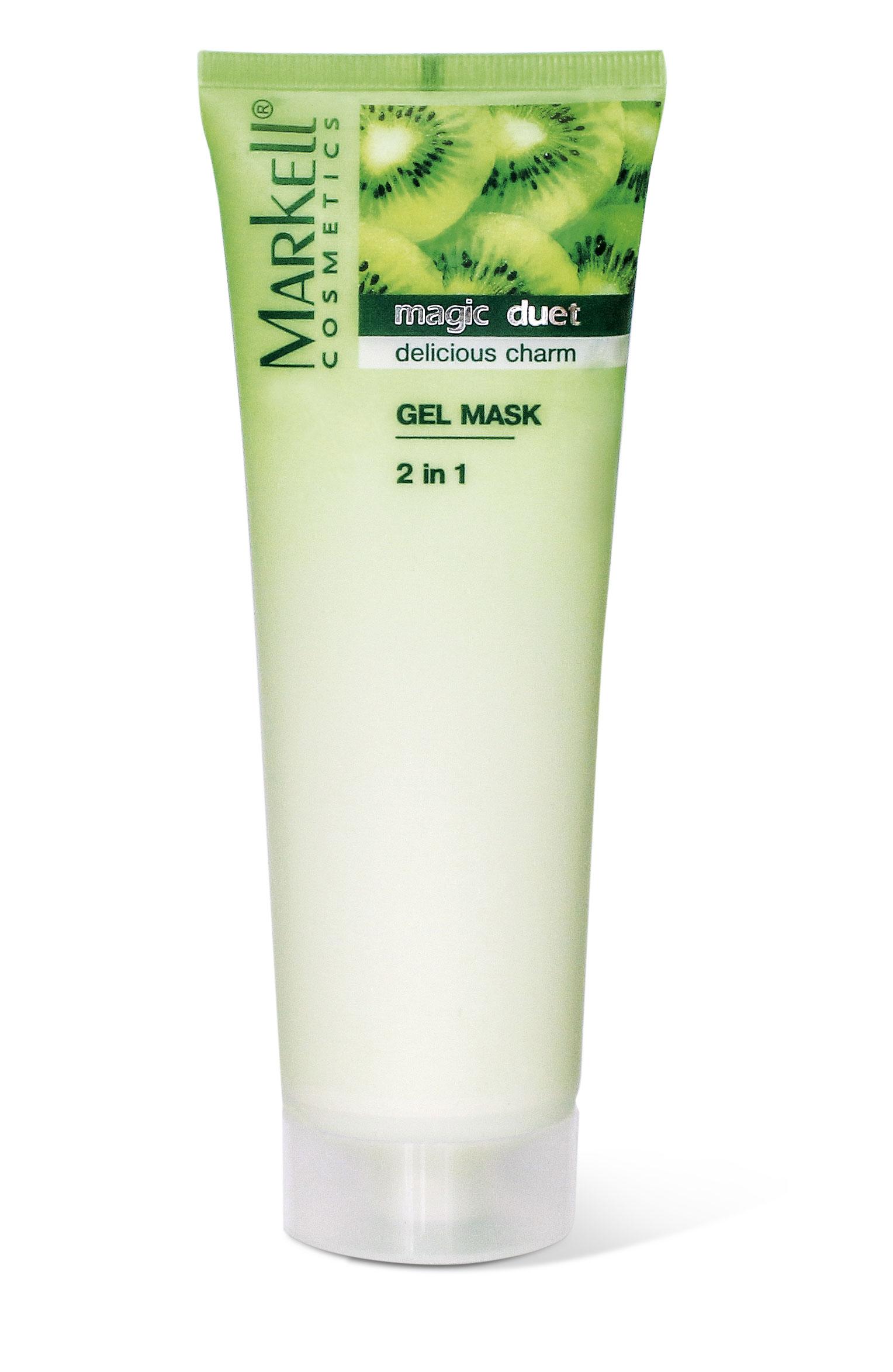 Markell Magic Duet Zklidňující maska na obličej 2v1 z kiwi 115 g