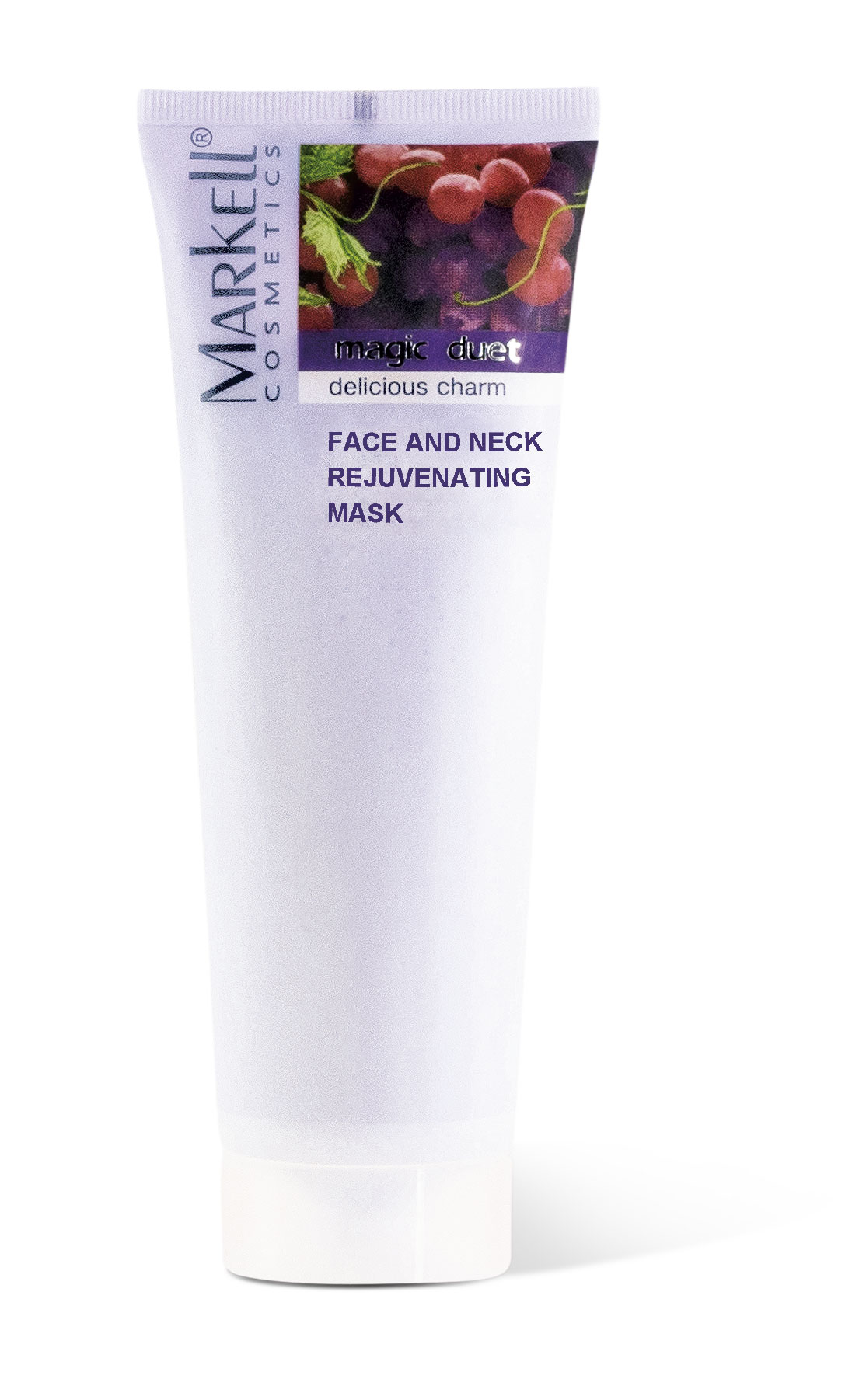 Markell Magic Duet Hydratační maska na tvář a krk z pecek hroznového vína a bílého čaje 115 g