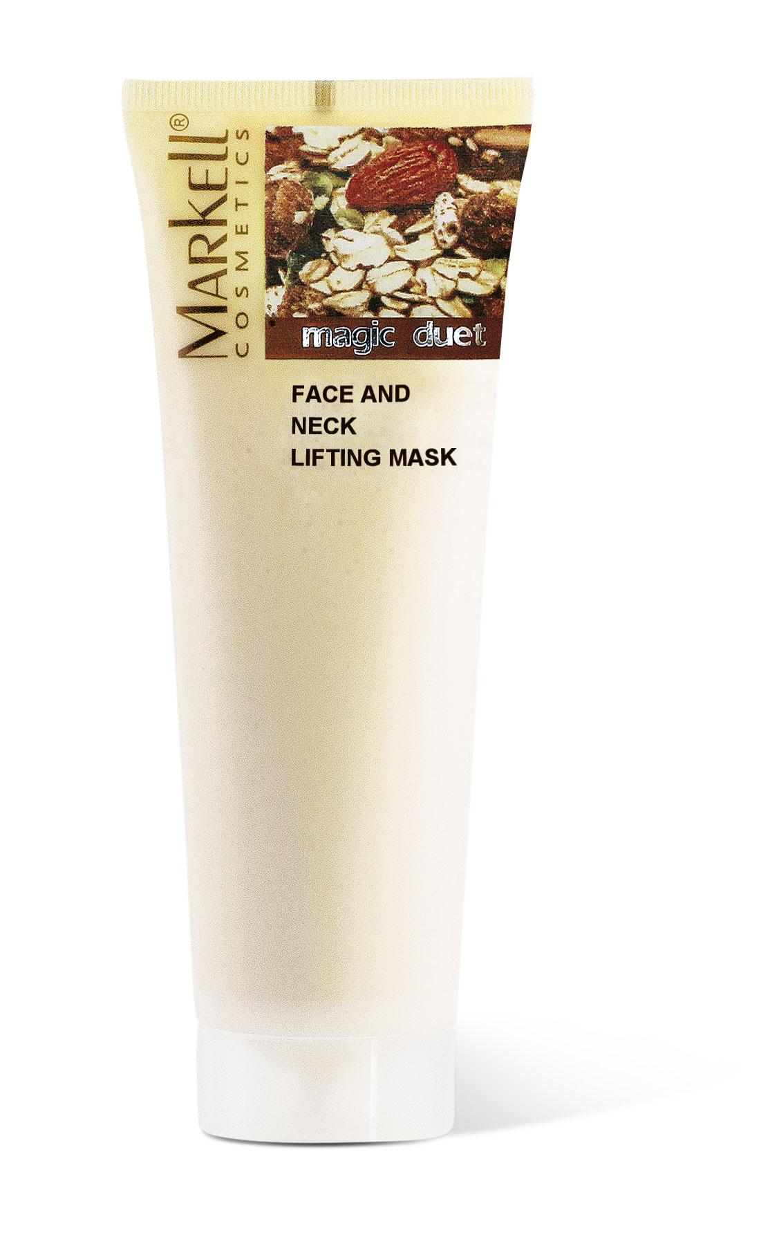 Markell Magic Duet Vypinácí maska na tvář a krk s extraktem z jogurtu a musli 115 g