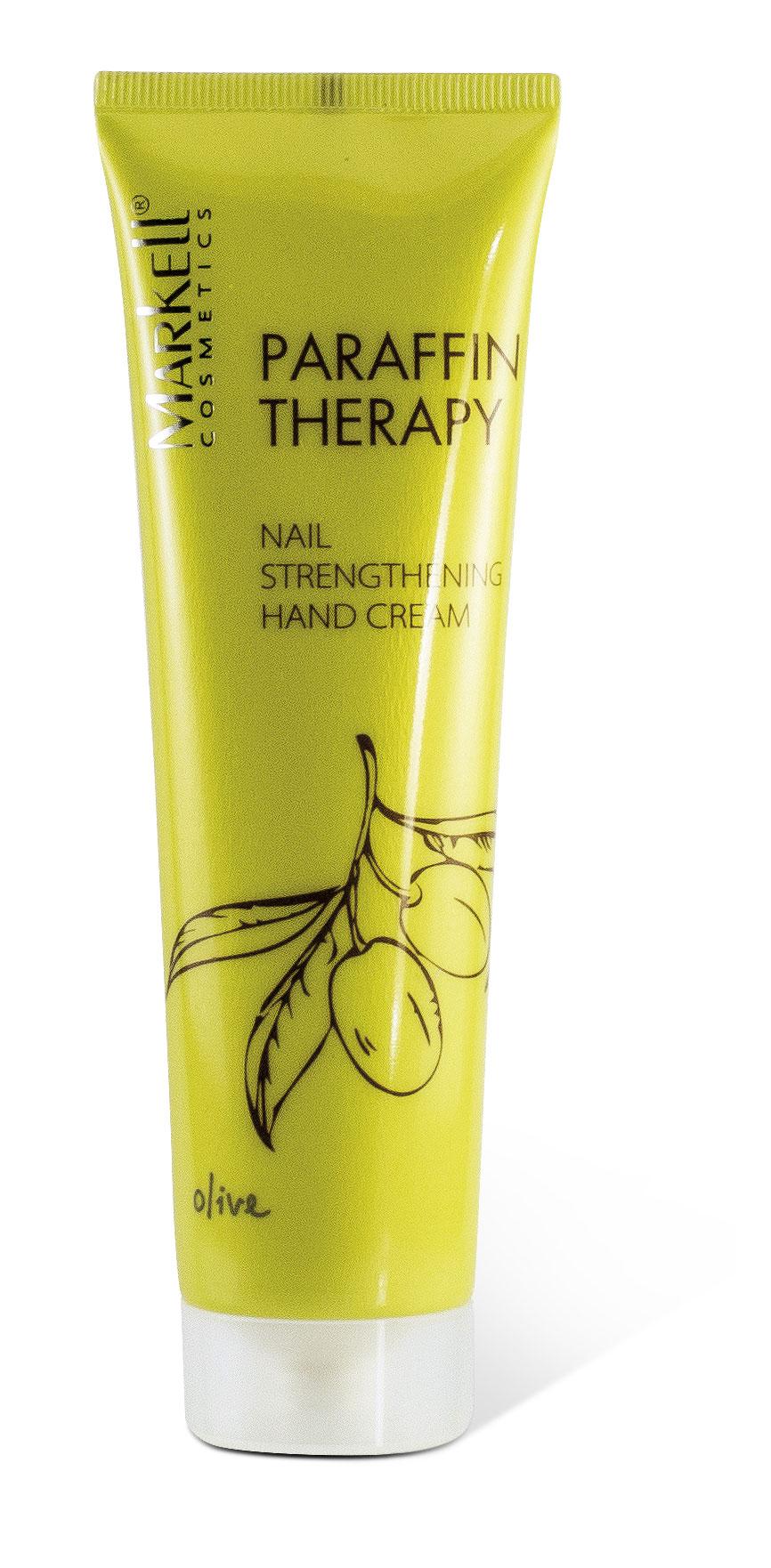 Markell Parafin Posilující krém na ruce a nehty s olivami 100 ml