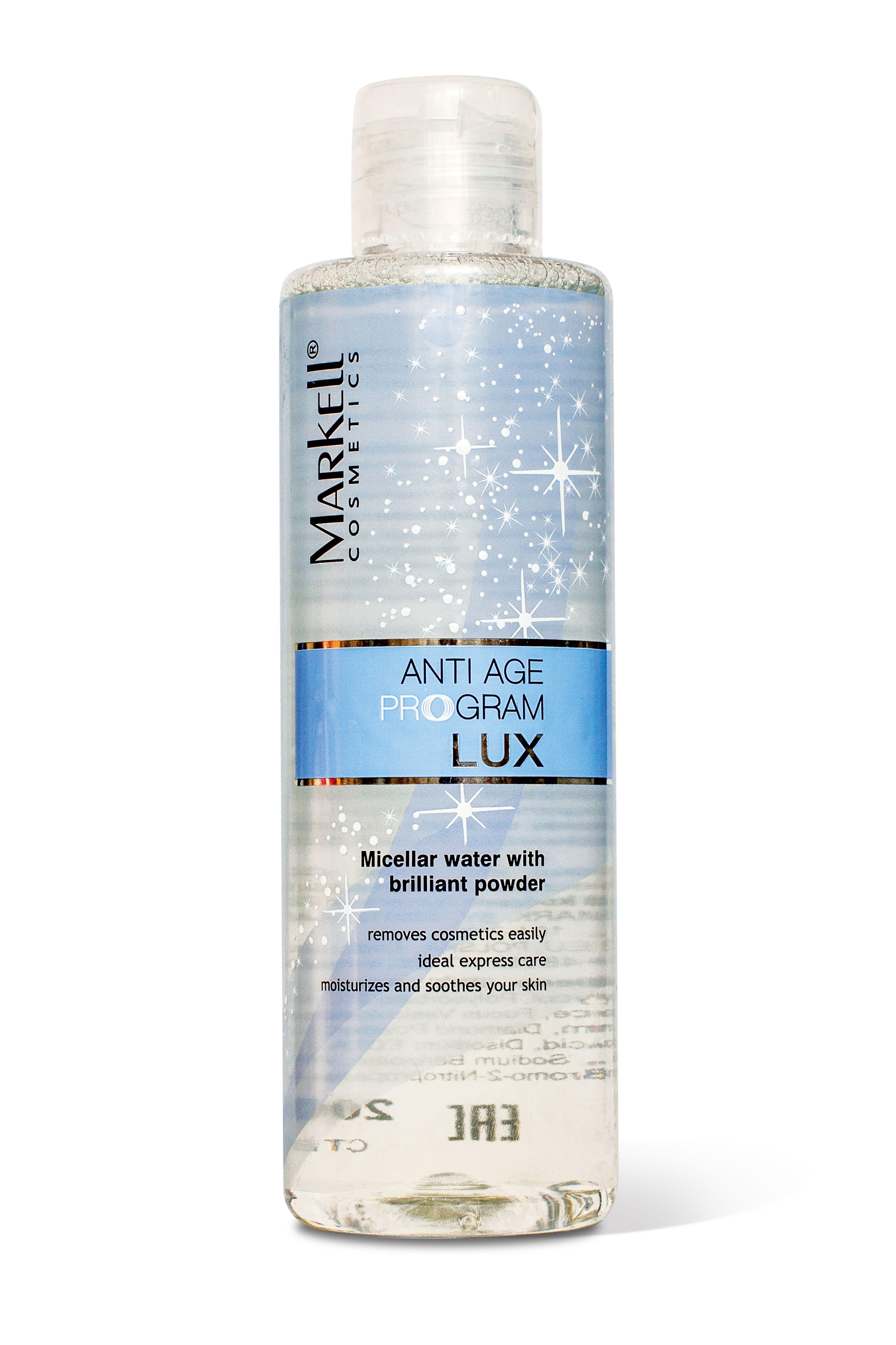 MARKELL Micelární pleťová voda s diamantem Anti Age Lux 200 ml