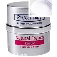 Natural French UV gel Exclusive White 10ml Perfect Lady