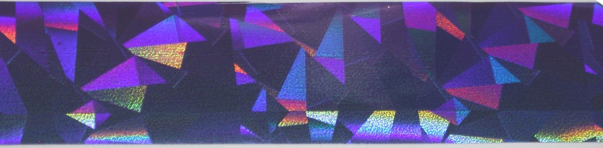 VIVI Folie na nehty střepy duha modrá,fialová 50 cm