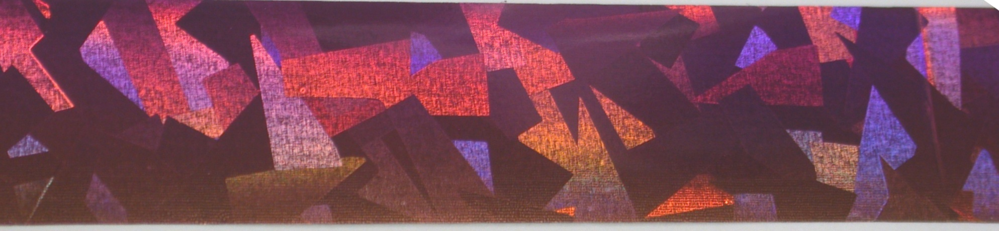 VIVI Folie na nehty střepy duha fialová,rezavá 50 cm