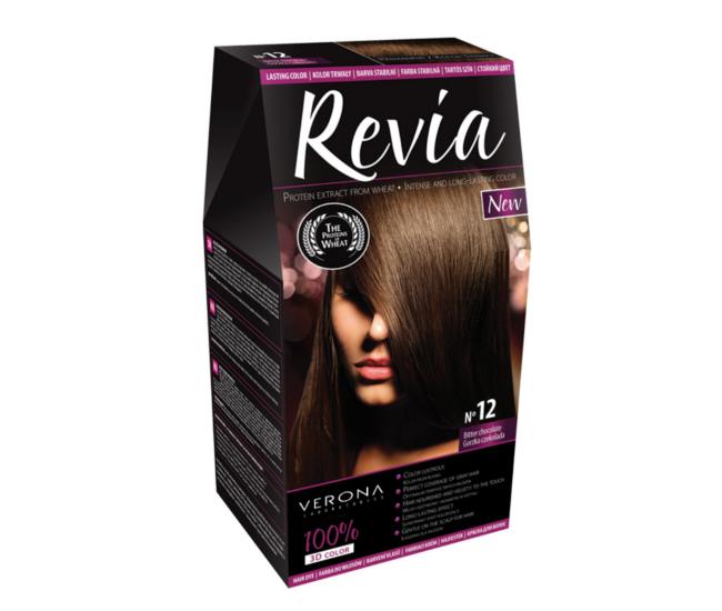 Revia 100% 3D barva na vlasy 12 hořká čokoláda