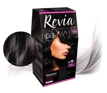 Revia 100% 3D barva na vlasy 14 granát.černá