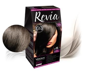 Revia 100% 3D barva na vlasy 15 ebenová čerň