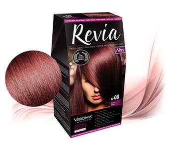 Revia 100% 3D barva na vlasy 08 višeň