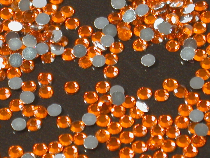 Kamínky na nehty Hyacinth oranžovo-červené 40ks