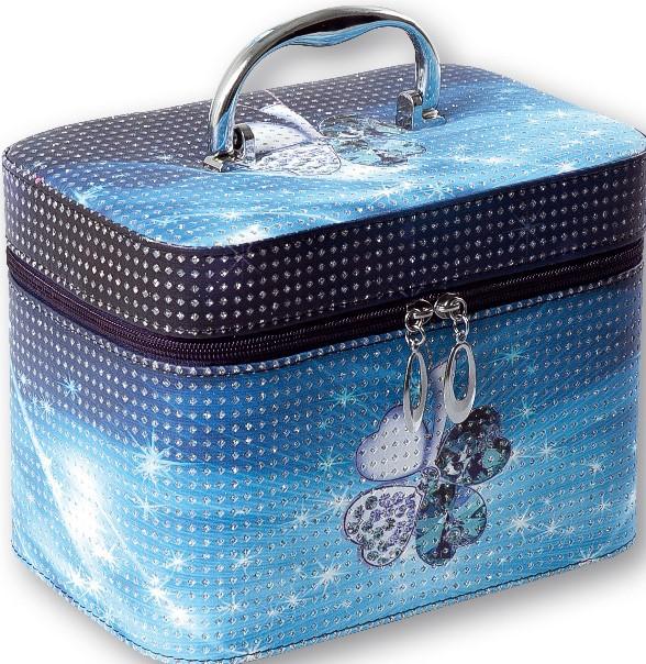 c1230229a Top Choice kosmetický kufřík Modrý čtyřlístek 23x15,5x17,5cm 96747