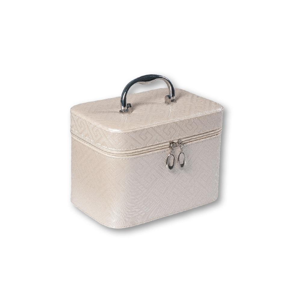 521698372 TOP CHOICE Kosmetický kufřík Geometric beige M 97348 21x13,5x14,5cm