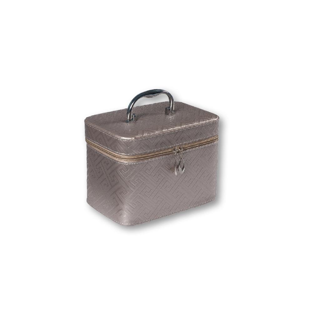TOP CHOICE Kosmetický kufřík Geometric grey S 19x10,5x11,5cm